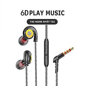 Tai Nghe Nhét Tai T05 BASS khủng Driver Dynamic 14mm nghe nhạc edm, remix cho âm thanh hay tương thích với các thiết bị, kiểu dáng in ear chiến game cực tốt - Hàng chính hãng