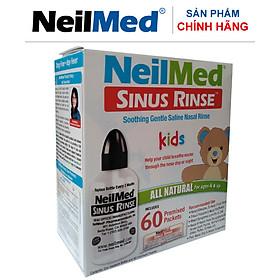 Bình (Bộ Dụng Cụ) Rửa Mũi Xoang Trẻ Em NeilMed SinusRinse Kids  (1 bình + 60 gói muối)- Xuất Xứ Mỹ