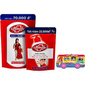 Combo Lifebuoy Back2School: 01 Sữa tắm Lifebuoy Sạch khuẩn túi đỏ 850g Bảo vệ vượt trội 10 + 01 NRT Lifebuoy túi đỏ 450g Bảo vệ vượt trội 10 + Tặng Hộp bút Ben10/Powerpull (Mẫu ngẫu nhiên)