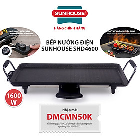Bếp Nướng Điện Sunhouse SHD4600 - Đen- Hàng chính hãng