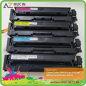 Bộ 4 Hộp Mực in 054 BK/C/Y/M cho máy in Canon LBP621Cw/ 623Cdw/ MF641Cw/ 643Cdw/ 645Cx chất lượng
