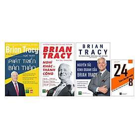 Combo Brian Tracy - Nghĩ Khác Để Thành Công + Nghệ Thuật Phát Triển Bản Thân + Nguyên Tắc Kinh Doanh Của Brian Tracy (Tặng Kèm Cuốn 24/8 Để Đẫn Đầu Trong Mọi Cuộc Đua)