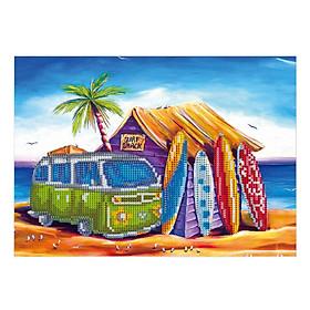12*16 Inch/30 * 40cm DIY 5D Diamond Painting Kit Sea Pattern Resin Rhinestone Mosaic Embroidery Cross Stitch Craft Home