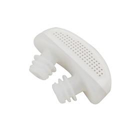 Silicone Mini 2 in 1Anti Snore Device Nasal Dilators Apnea Aid Stop Snoring Nose Clip white