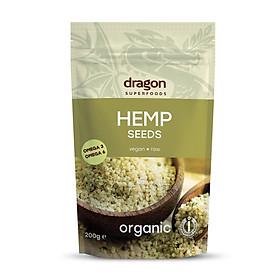 Hạt gai dầu hữu cơ Dragon superfoods 200gr Hemp seed Dragon superfoods 200gr