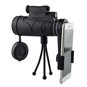 Ống nhòm một mắt kẹp điện thoại đi du lịch độ phóng đại 12X cao cấp (Tặng đèn pin bóp tay -màu ngẫu nhiên)
