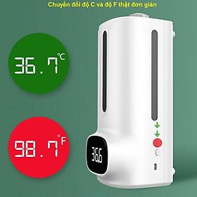 Máy đo nhiệt độ kết hợp xịt rửa tay D104