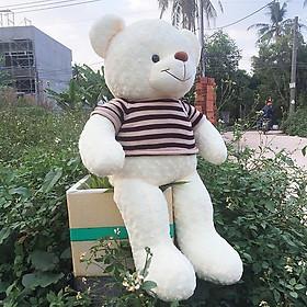 Gấu bông Teddy ICHIGO khổ vải 1m2 màu Kem