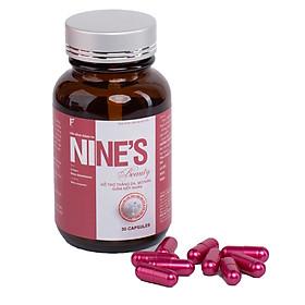 Viên Uống Trắng Da toàn thân Mờ Tàn Nhang Nine's Beauty bổ sung Collagen, Nano Glutathione, Nano Curcumin làm đẹp da hỗ trợ trị nám tàn nhang, chống lão hóa giảm nếp nhăn Điều hòa nội tiết tố nữ