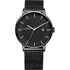 Đồng hồ nam GADYSON dây thép lưới có lịch ngày cao cấp mẫu MỚI năm nay