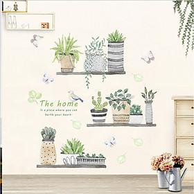 Decal dán tường - Chậu cây xinh xắn - DC002