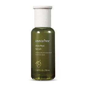 Serum Dưỡng Ẩm Dành Cho Da Khô Innisfree Olive Real Serum 50ml
