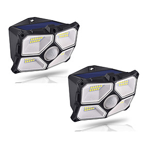 40LED Wide Angle Wall Lamp 10M Sensoring Distance 120 Degree Sensoring Angle 150 Lumen 4 Luminescent Surfaces