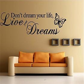 Decal dán tường chữ truyền động lực chạm tới ước mơ