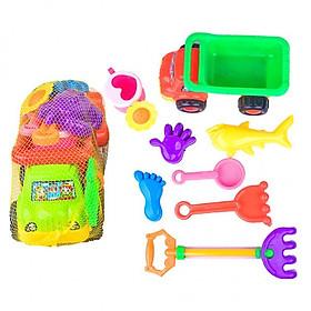 Bộ đồ chơi xúc cát đi biển hình xe ben cho bé hàng Việt Nam HT80040
