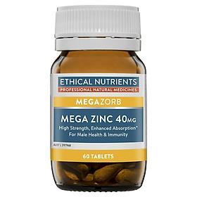 Ethical Nutrients MEGAZORB Mega Zinc 40mg 60 Tablets
