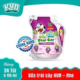 Sữa Kun Túi Nho Thùng 24 Túi x 110ml