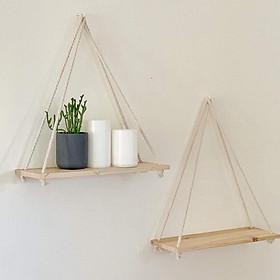 2 Kệ gỗ thông 35*15*45cm kệ trang trí kệ treo tường kệ treo dây