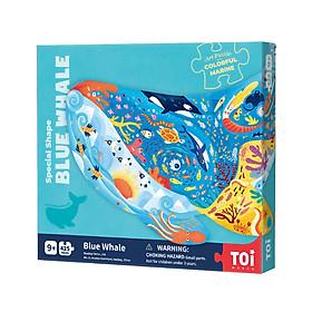 Bộ xếp hình động vật 425 mảnh CÁ VOI XANH chính hãng TOI Blue Whales