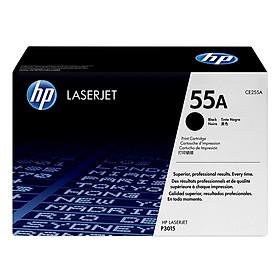 Mực in Laser HP 55A Black Original Print Cartridge Đen (Máy in HP LaserJet P3015/P3015D/P3015DN/P3015X/HP LaserJet Pro MFP M521DN/M621DW/HP LaserJet Ent 500 MFP M525DN/M525F/HP LaserJet Ent Flow MFP M525c/CE255A) - Hàng Chính Hãng