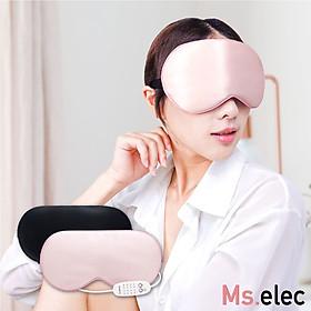 Mặt nạ mắt lụa chườm nóng làm đẹp Mselec EM-002 (lụa thật cao cấp, có hẹn giờ, chọn nhiệt độ, 2 màu để lựa chọn)
