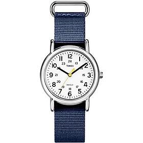 Timex Women's T2P370 Weekender 31mm Blue Floral Nylon Slip-Thru Strap Watch
