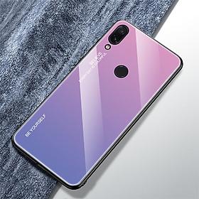 Ốp Lưng Mặt Kính Gradient Cho Xiaomi Redmi Note 7 / Note 7 Pro