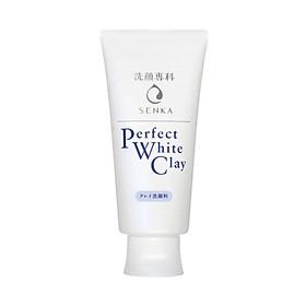Sữa Rửa Mặt Đất Sét Trắng Sạch Sâu Sáng Mịn Senka Perfect White Clay Chiết Xuất Tơ Tằm Dưỡng Ẩm (120g)