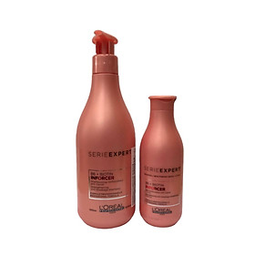 Bộ gội xả giúp tóc chắc khỏe , giảm đứt gãy rụng tóc L'oreal Serie expert B6 + Biotin inforcer strengthening anti-breakage shampoo & conditioner 500ml+200ml (Chính hãng )