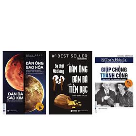 Combo bộ sách Tâm lý đàn ông (Giúp chồng thành công + Đàn ông sao hỏa, đàn bà sao Kim + Sự Thật Mất Lòng Về Đàn Ông Đàn Bà Và Tiền Bạc) TV