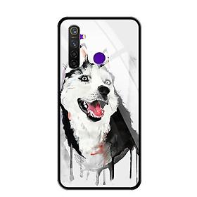 Ốp lưng kính cường lực cho điện thoại Realme 5 Pro - 0216 HUSKY - Hàng Chính Hãng