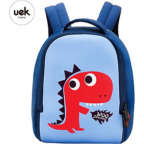 UEK children's school bag baby kindergarten blue dinosaur bag cute cartoon student backpack