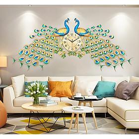 Đồng hồ trang trí Treo Tường phú quý chim khổng tước 525 Dùng làm quà tặng tân gia ,decor khách sạn , phòng khách rất đẹp và sang trọng -chim công Đôi cho phòng khách rộng và đep