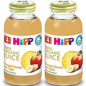 Combo 2 Sinh Tố Táo Dứa Chuối HiPP Vitamin C (200ml/Lọ)