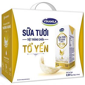 Thùng 24 Hộp Sữa Tươi Tiệt Trùng Chứa Tổ Yến Vinamilk 110ml