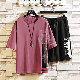 Áo phông nam tay ngắn Playboy phiên bản Hàn Quốc của xu hướng set đồ giản dị với thương hiệu quần áo đẹp trai