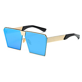 2017 Women Steampunk Oversized Square Sunglass Goggles Clear Lens Accessory