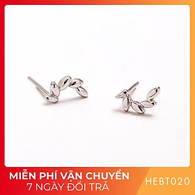 Bông hoa tai nữ bạc s925 cao cấp HEBT020 BH trọn đời