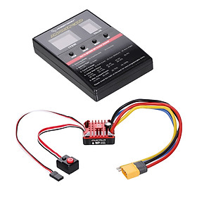 HOBBYWING QUICRUN WP 1080 80A Brushed 2-3S ESC Electric Speed Controller with Programming Card for 1/8 1/10 RC Crawler