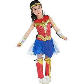 Trang Phục Wonder Woman Dành Cho Bé Gái Kèm Đầy Đủ Phụ Kiện