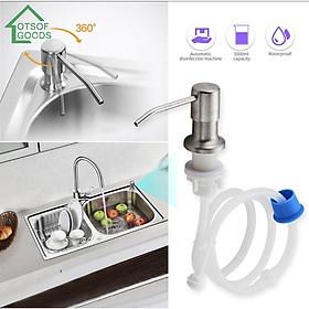 Bộ vòi dẫn nước nước rửa chén inox 304 gắn bồn rửa bát dây dài 1.2met