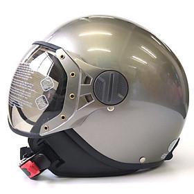Mũ bảo hiểm 3/4 SUNDA 103D - phù hợp với người vòng đầu hơi nhỏ - Ghi bóng