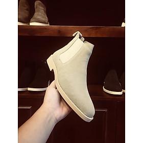 Giày chelsea boots da bò lộn màu tan AG3T Handmade thủ công tại Việt Nam