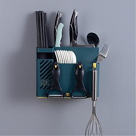 Ống đũa treo tường thông minh tiết kiệm diện tích, giá đa năng để dụng cụ nhà bếp không cần khoan tường siêu tiện ích - giao màu ngẫu nhiên