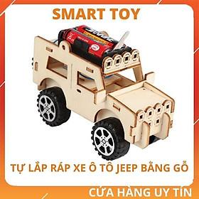 Đồ chơi trẻ em vận động lắp ráp xe ô tô bằng gỗ cho bé trai bé gái giáo dục phát triển kỹ năng khoa học sáng tạo STEM