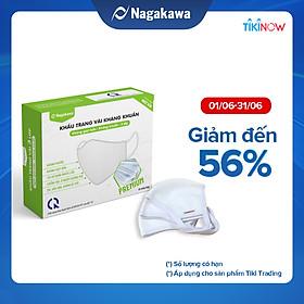 Khẩu Trang Vải Kháng Khuẩn 3 Lớp Nagakawa - Premium - Công Nghệ Nhật Bản KTV3LKKNHH - Hộp 10 Chiếc