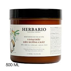 Kem ủ tóc từ 5 loại dầu siêu chất dành cho tóc Herbario 500ml-1