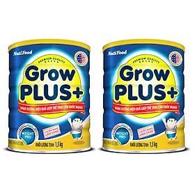 BỘ 2 LON SỮA BỘT GROWPLUS+ DINH DƯỠNG HIỆU QUẢ GIÚP TRẺ TĂNG CÂN KHỎE MẠNH - LON 1.5KG