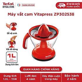 [Gift] Máy vắt cam Tefal Vitapress ZP302538 - đỏ, 25W, 1L - Hàng chính hãng