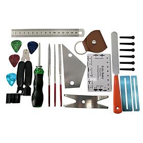 24PCS Guitar Repairing Kit Guitar Care Kit Maintenance Tool Set